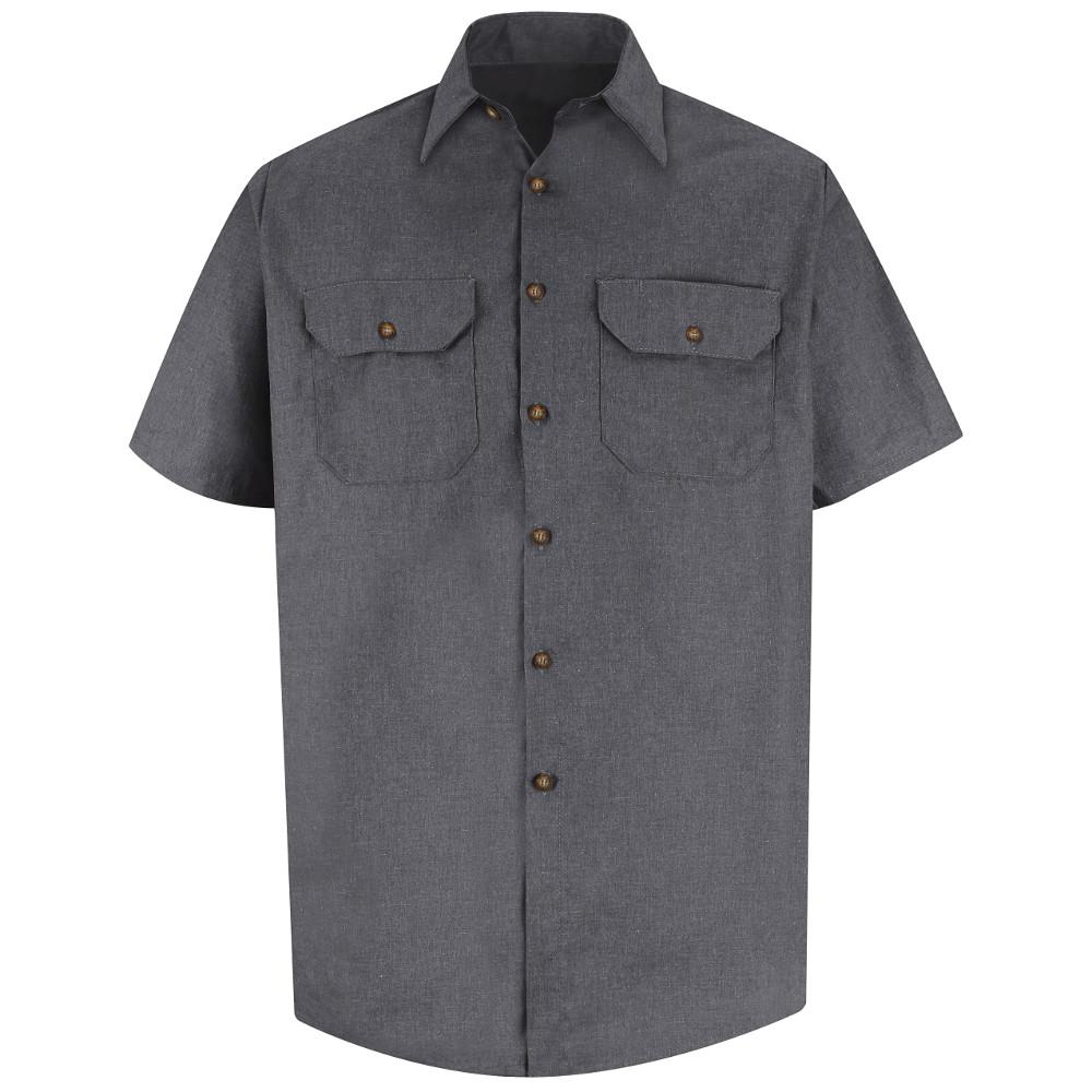 cff2dd8b9a Red Kap Men s Size XL Charcoal Heathered Poplin Uniform Shirt-SH20CH ...