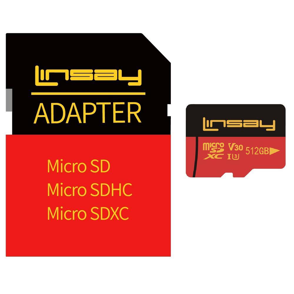 High Speed Micro SD Card 512GB V30 4K ULTRA HD