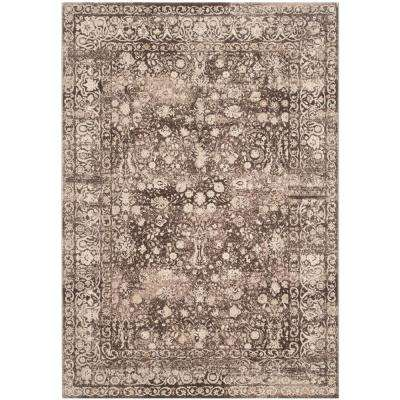 Serenity Brown/Cream 8 ft. x 10 ft. Area Rug