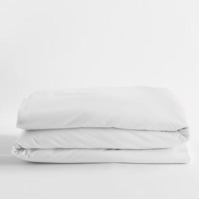 Legends White Solid Egyptian Cotton Sateen Queen Duvet Cover