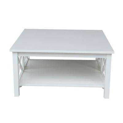 Hampton Pure White Square Coffee Table