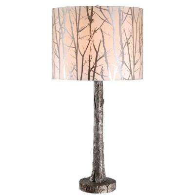 Fleetwood 31 in. Antique Silver Table Lamp