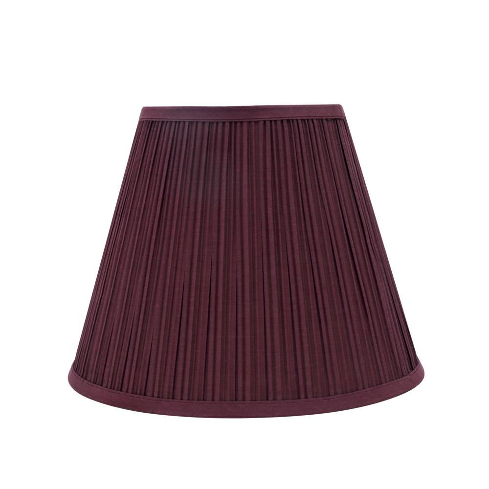 Hampton Bay Mix Amp Match Burgundy Square Bell Accent Shade