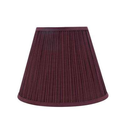13 in. x 10 in. Burgundy Pleated Empire Lamp Shade