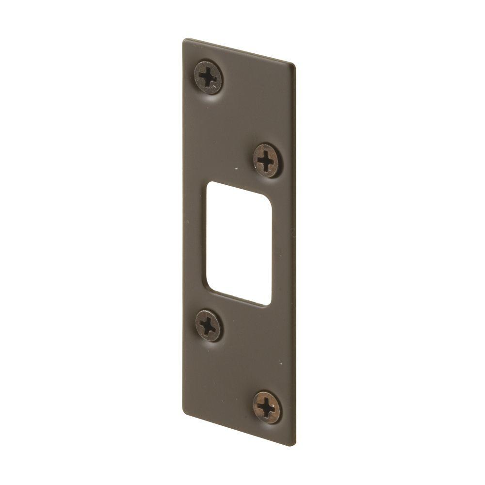 Prime-Line Oil Rubbed Bronze High-Security Deadbolt Strike