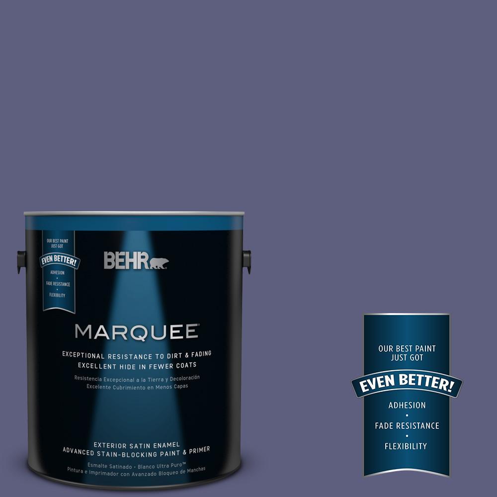 BEHR MARQUEE 1-gal. #M550-7 Strong Iris Satin Enamel Exterior Paint