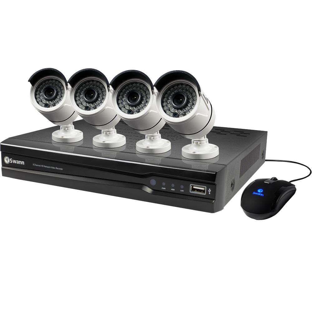 8-Channel 1440p 2TB Hard Drive Surveillance System with 4...