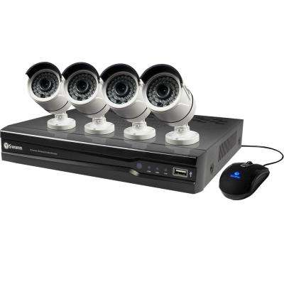 NVR8-7400 4MP 2TB NVR with 4 x NHD-818 4MP Bullet Cameras