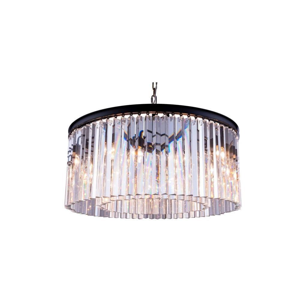 Elegant lighting sydney 8 light mocha brown chandelier with clear elegant lighting sydney 8 light mocha brown chandelier with clear crystal aloadofball Choice Image