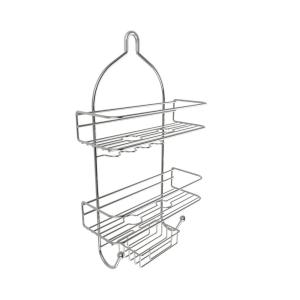 Lavish Home Hanging Nonslip Grip 3-Tier Shower Caddy with Shelves and Hooks by Lavish Home