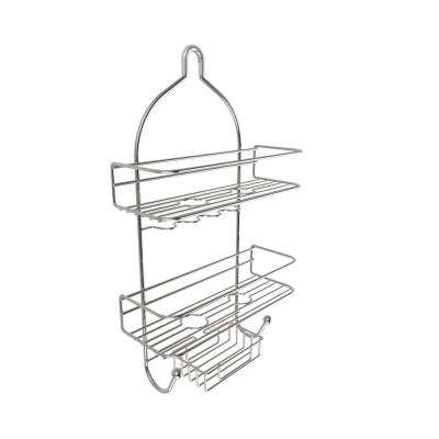 Hanging Nonslip Grip 3-Tier Shower Caddy with Shelves and Hooks