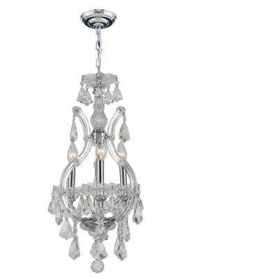 Maria Theresa Collection 4-Light Polished Chrome and Crystal Chandelier