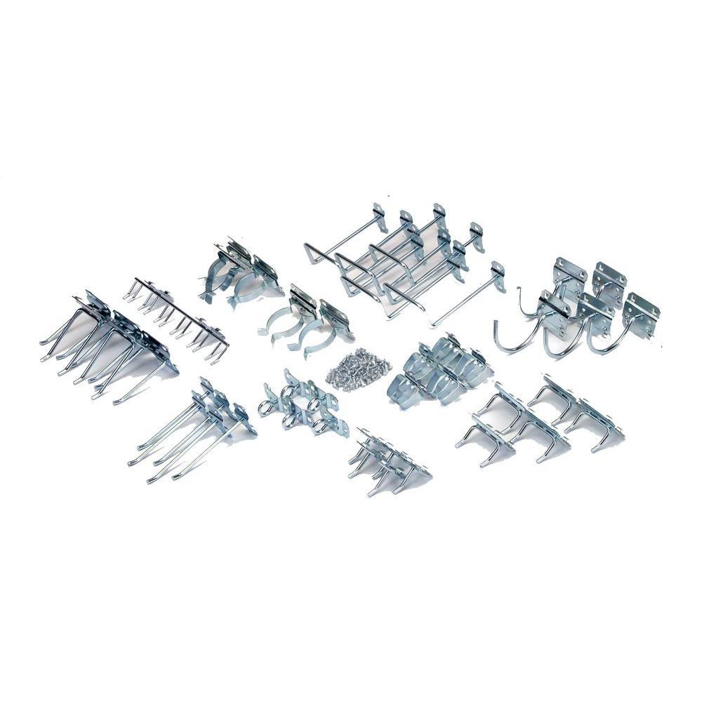 Zinc Plated Steel Hook Assortment for LocBoard (46-Piece)