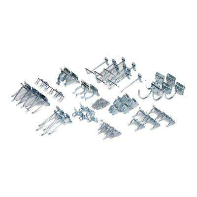 Zinc Plated Steel Hook Assortment for LocBoard (46-Piece)