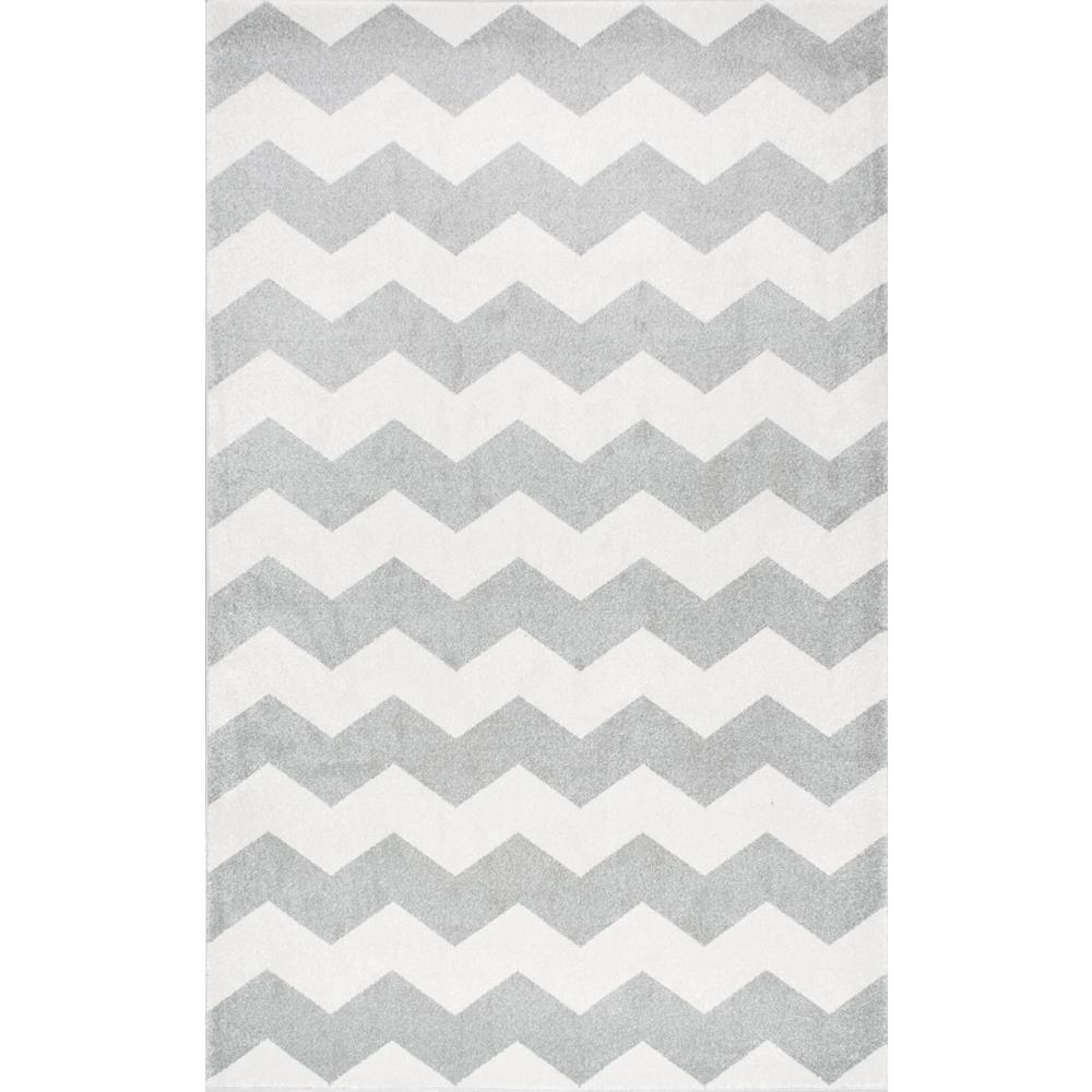 Nuloom Aponte Chevron Grey 7 Ft 10 In