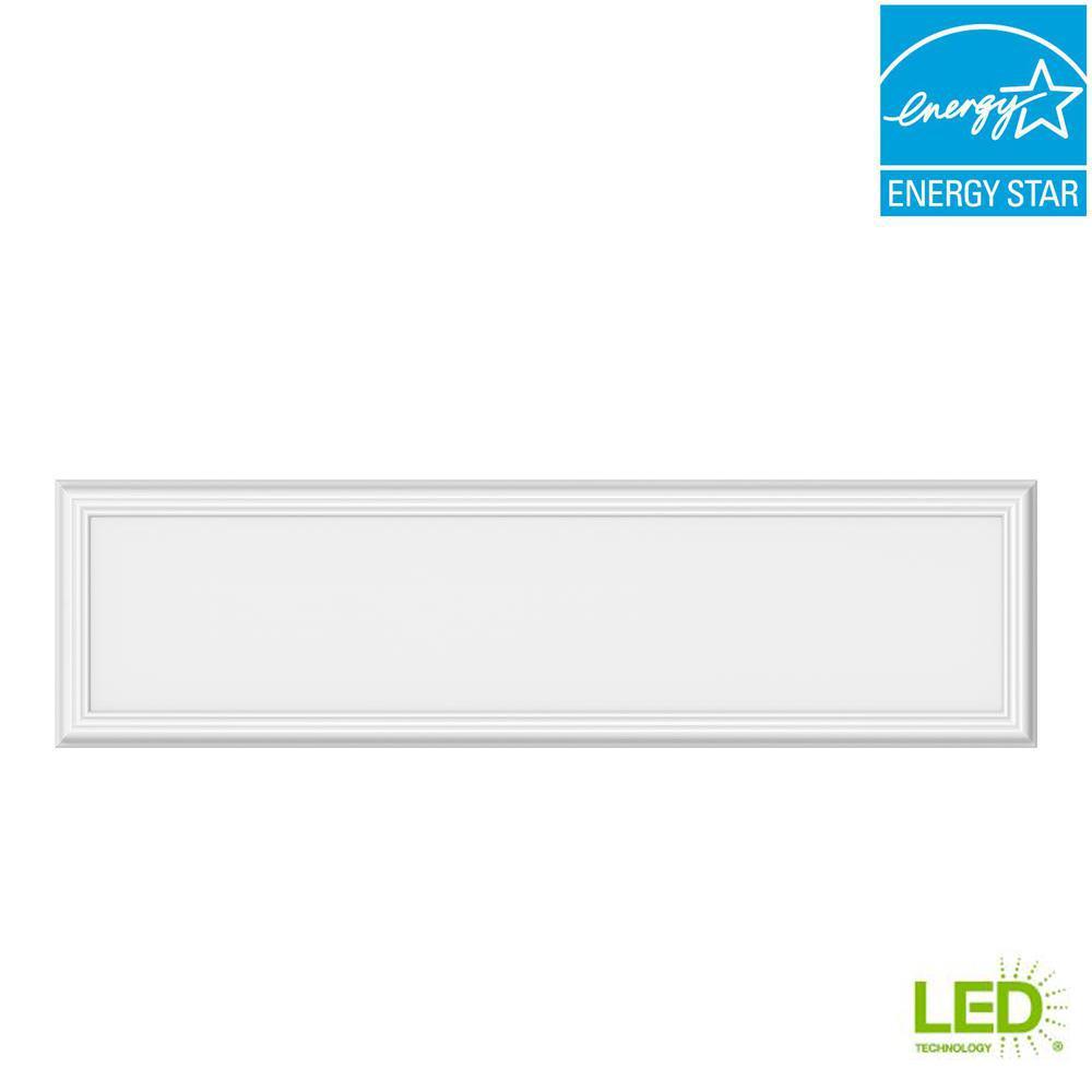 1 ft. x 4 ft. 50-Watt Dimmable White Integrated LED Edge-