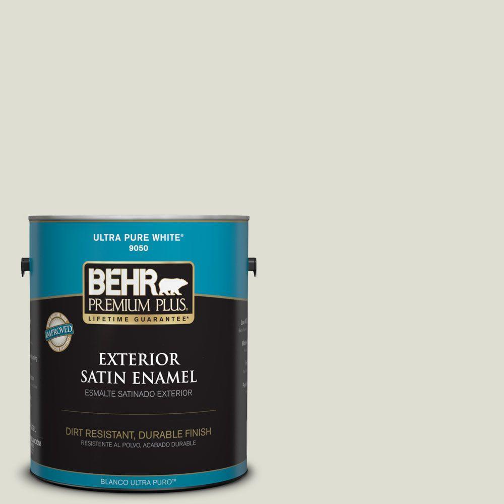 1-gal. #BWC-28 Alpine Frost Satin Enamel Exterior Paint