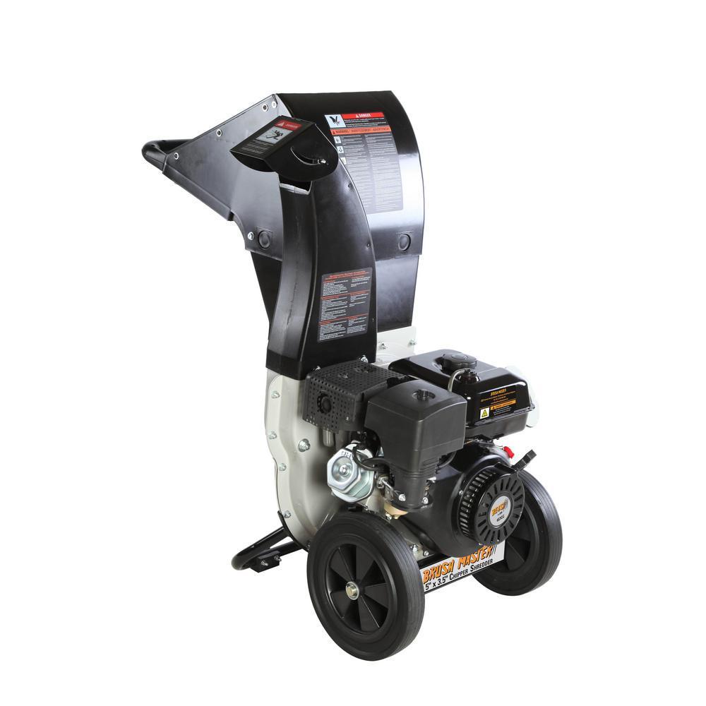 Dia Gas Ed Chipper Shredder 445 Cc 120 Volt Electric Start Pro Duty Top Discharge