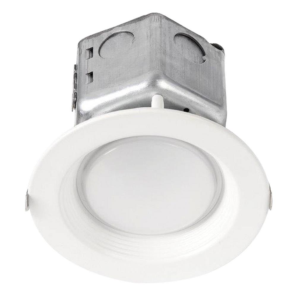 Halco Lighting Technologies Proled 4 In White Integrated Led Recessed Ceiling Light Dimmable Housing