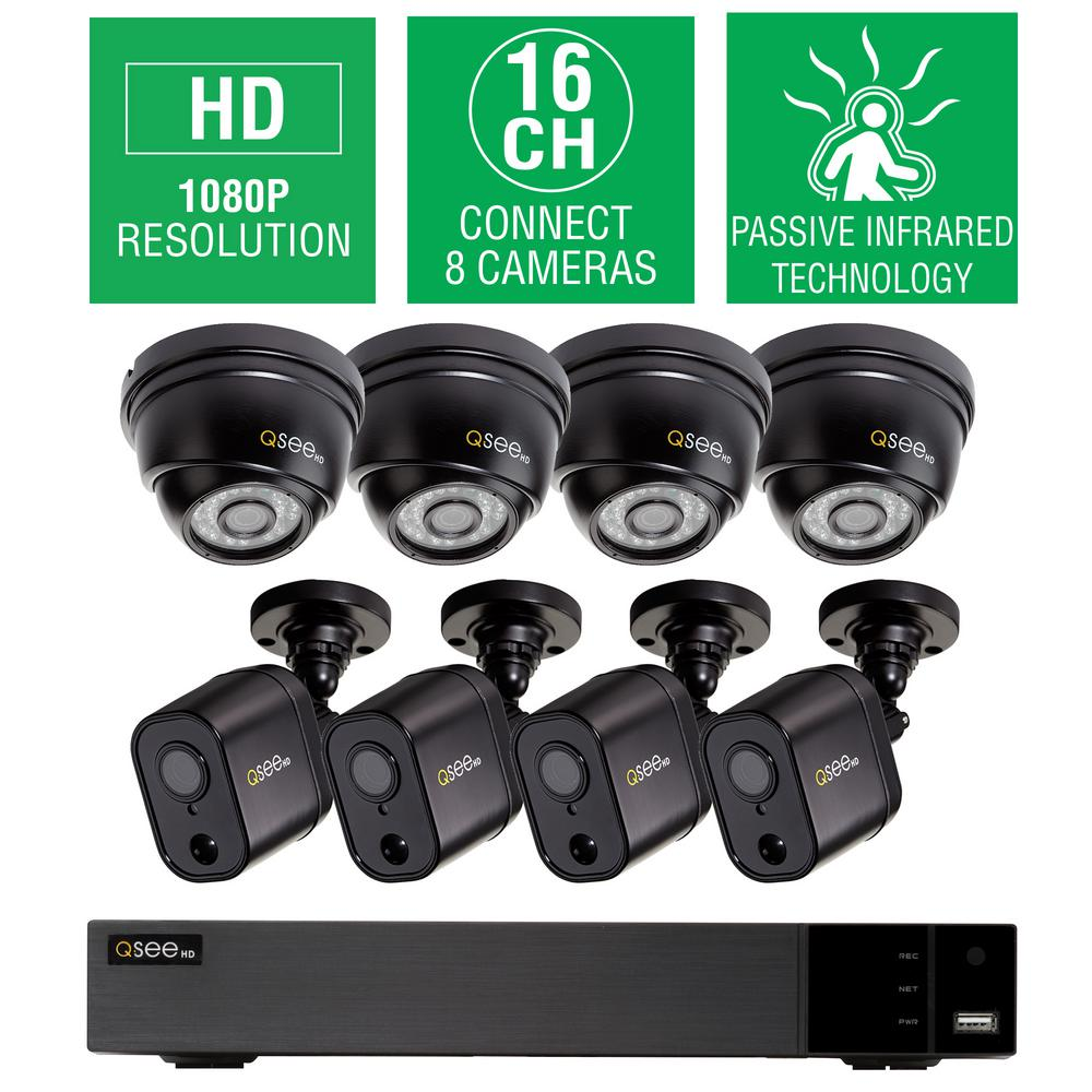 16-Channel 1080p 2TB HD Video Surveillance System with 4 Dome and