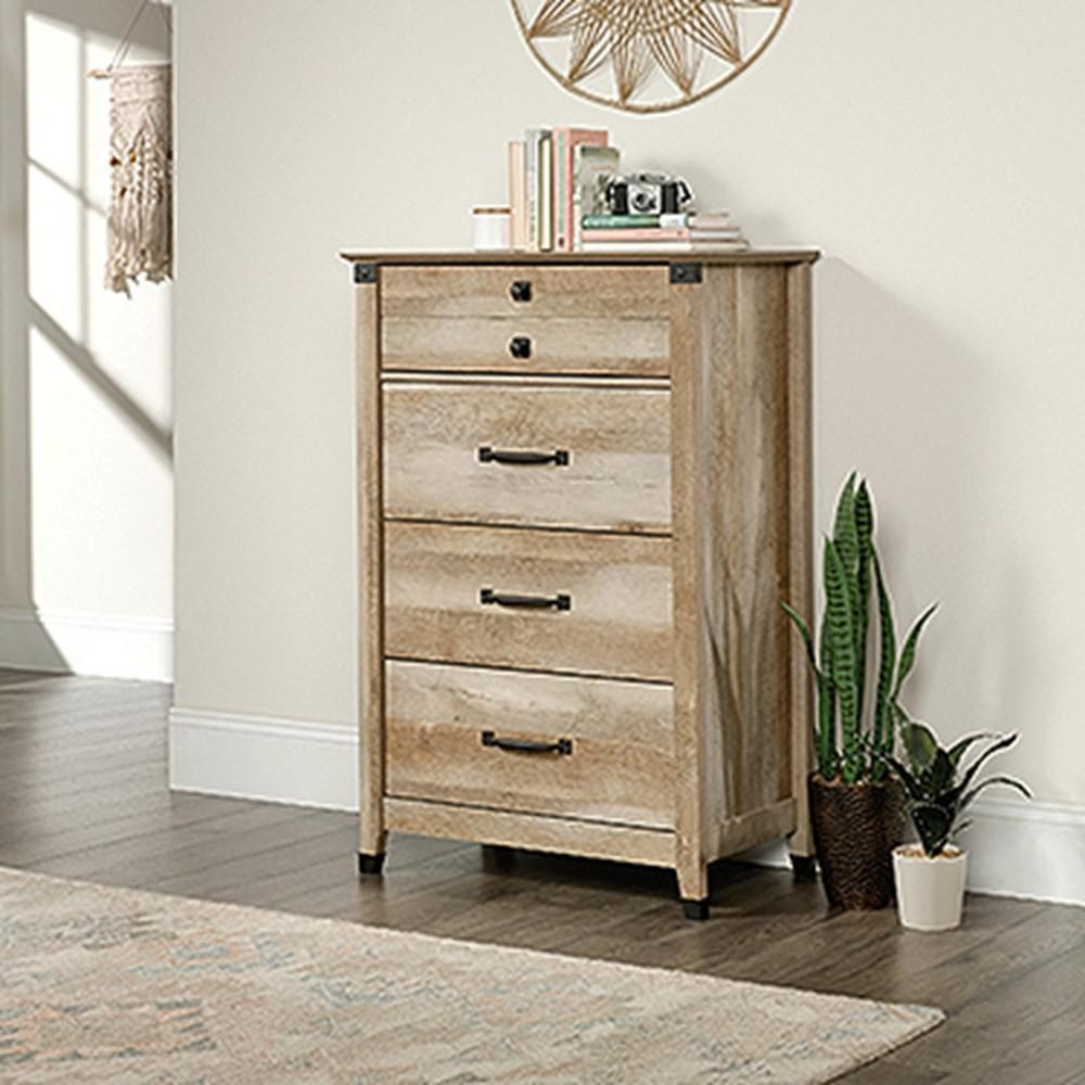 4 Drawer Lintel Oak Chest