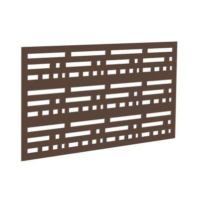 4 ft. x 2 ft. Brazilian Walnut Morse Polymer Decorative Screen Panel