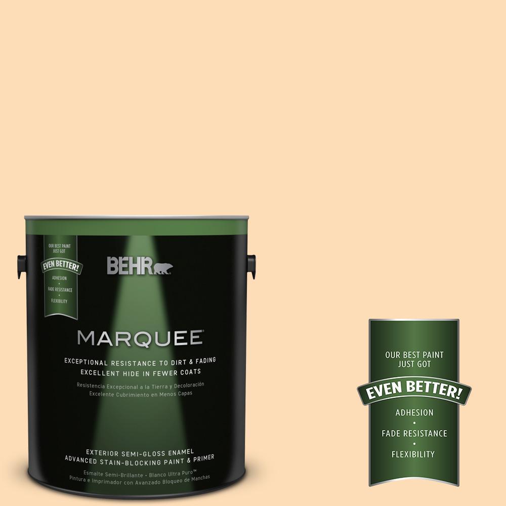 BEHR MARQUEE 1-gal. #P220-2 Peche Semi-Gloss Enamel Exterior Paint