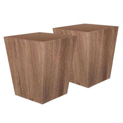 Farmington 15.5 in. x 18 in. Brown Resin Planter (2-Pack)