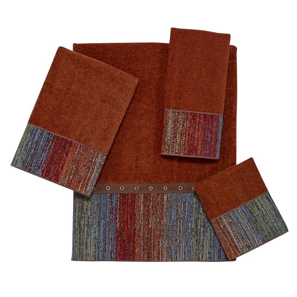 Sundance 4-Piece Bath Towel Set in Copper