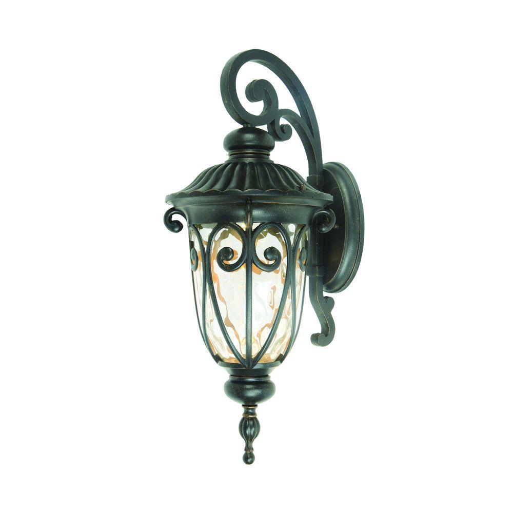 Yosemite Home Decor Viviana Collection 1-Light Oil-Rubbed Bronze Outdoor Wall Mount Lamp