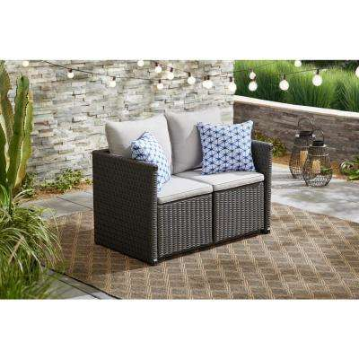 Almond Hill 4-Piece Metal Convertible Seating Dining Set with Gray Cushions