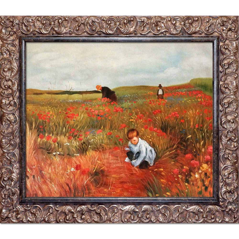 LA PASTICHE Les Coquelicots with Brasovia Frameby Mary Cassatt Oil Painting, Multi-Colored was $1246.0 now $526.06 (58.0% off)