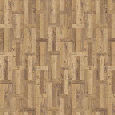 Haystack 11.89 in. x 27.87 in. Parquet Luxury Vinyl Plank Flooring (23 sq. ft. / case)
