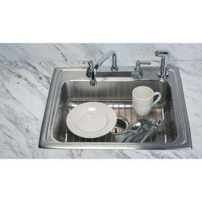 Large Chrome Sink Protector