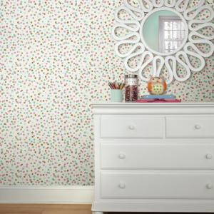 28 18 Sq Ft Confetti Pink Blue Peel And Stick Wallpaper