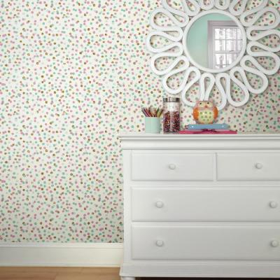 28.18 sq. ft. Confetti Pink/Blue Peel and Stick Wallpaper