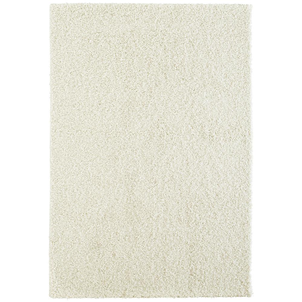 Custom Shag Linen White 4 ft. x 6 ft. Indoor Area