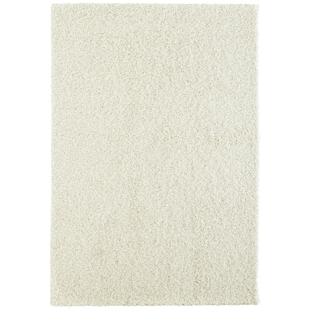 Custom Shag Linen White 5 ft. x 7 ft. Indoor Area