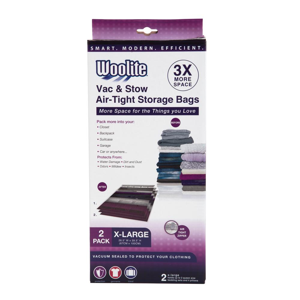 Woolite 2pc X Large Vacuum Storage Bags 265 X 395 W 85562 The