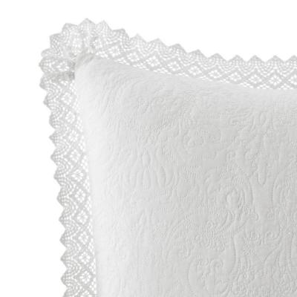 Solid Crochet Cotton Euro Sham (Set of 2)