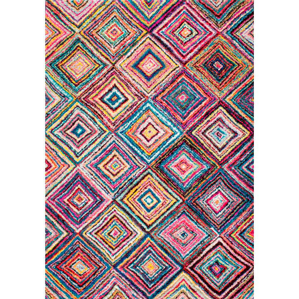 Jenise Squares Multi 4 ft. 1 in. x 6 ft. Area
