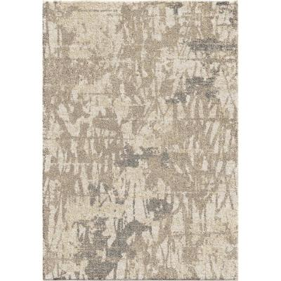 Abstract Canopy Ivory 5 ft. 3 in. x 7 ft. 6 in. Area Rug