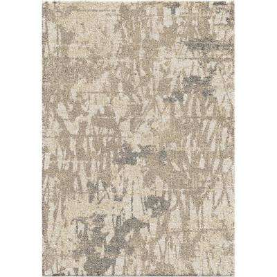 Abstract Canopy Ivory 8 Ft X 11 Area Rug