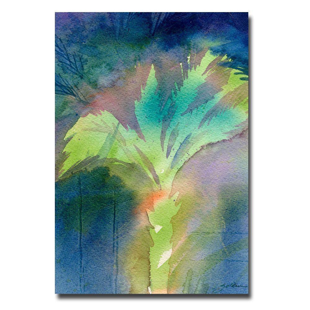 Trademark Fine Art 16 in. x 24 in. Night Palm Canvas Art