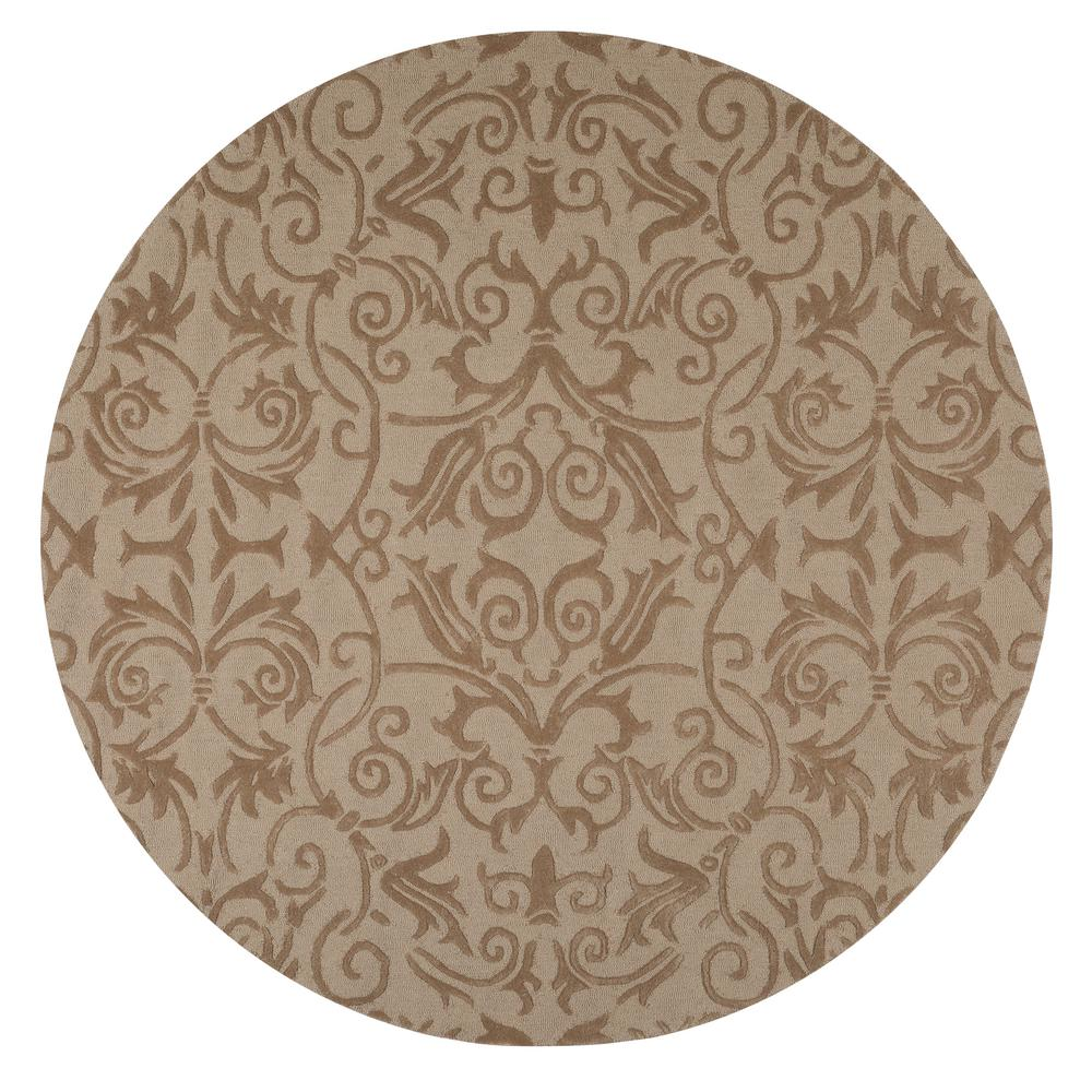 Home Decorators Collection Bella Taupe 7 Ft 9 In Round Area Rug 9433350860 The Home Depot