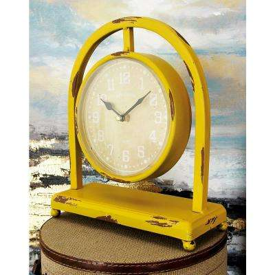 11 in. x 9 in. Multi Suspended Round Table Clocks on Arched Frame (Set of 4)