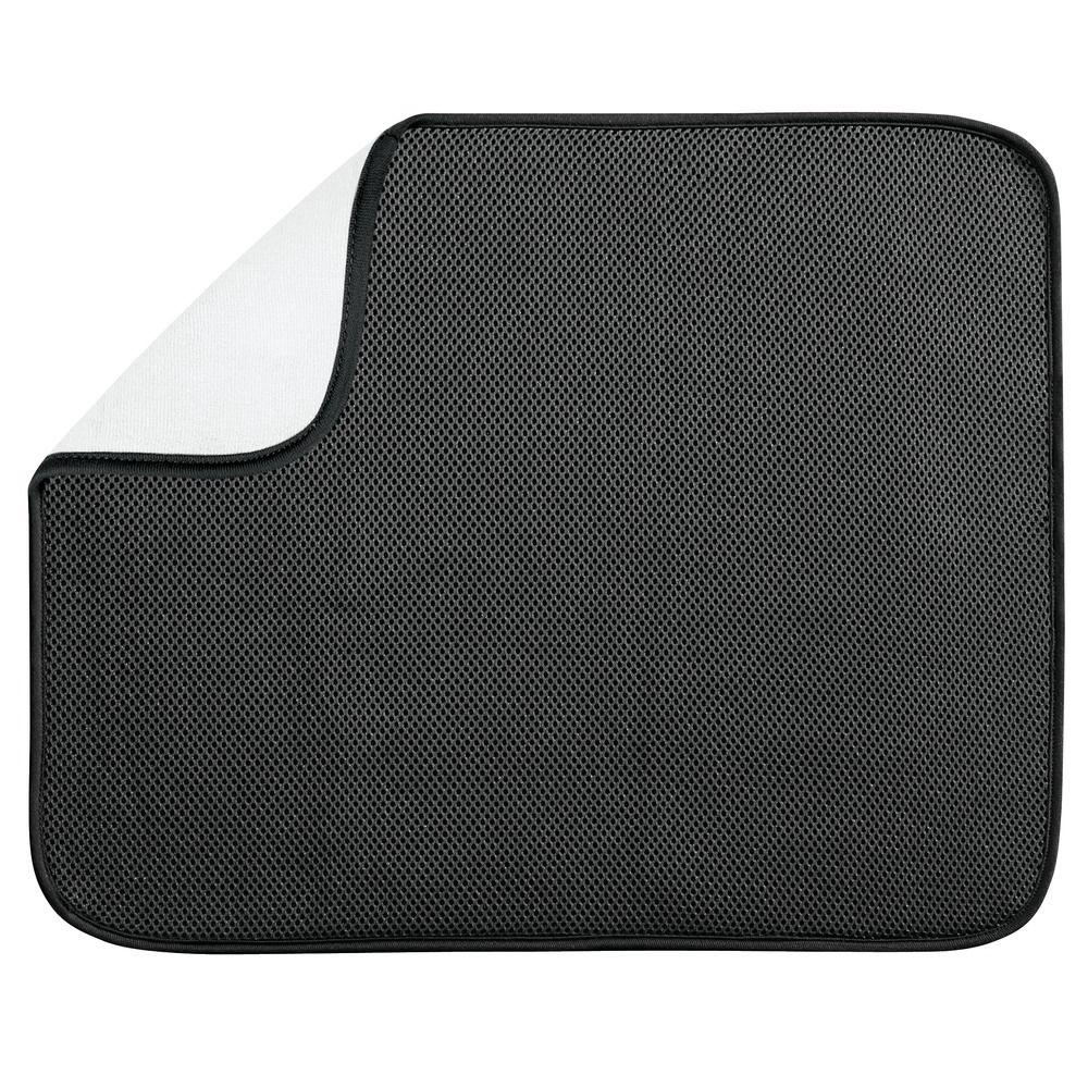 18 in. x 16 in. iDry Kitchen Mat in Black/White