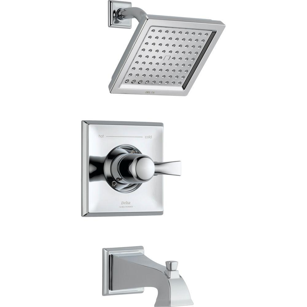 Charming Delta Dryden 1 Handle Tub And Shower Faucet Trim Kit Only In Chrome (Valve