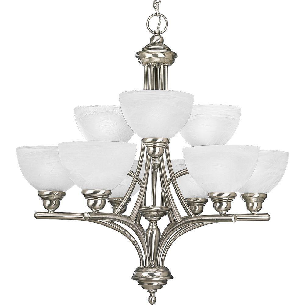 Glendale Collection 9-Light Brushed Nickel Chandelier