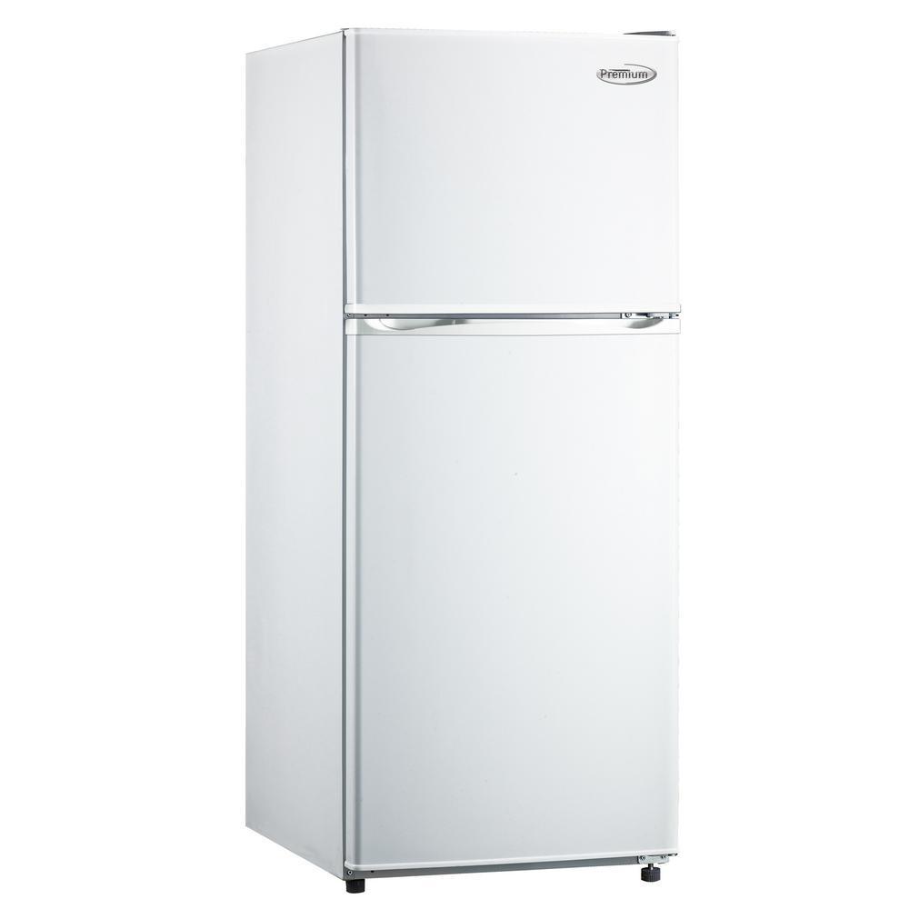 PREMIUM 9.9 cu. ft. Frost Free Top Freezer Refrigerator in White PREMIUM 9.9 cu. ft. Frost Free Top Freezer Refrigerator in White